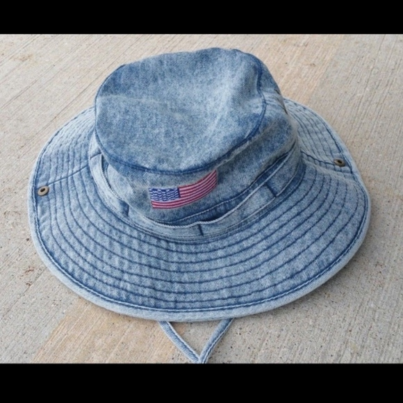 Free Authority Denim Fishing Floppy Bucket Hat Sm 5007b6a7b29